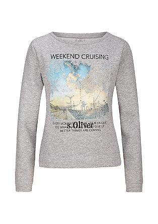 Sweatshirt met fotoprint
