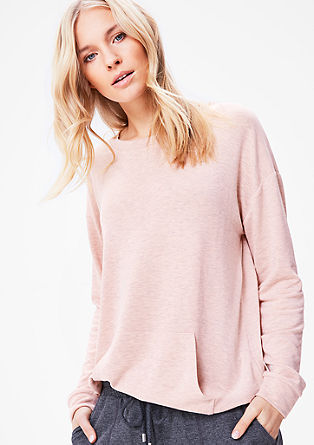 Sweatshirt met gemêleerde look