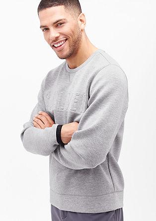 Sweatshirt met neopreenlook