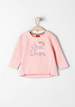 Sweatshirt met pailletjes en regenboog