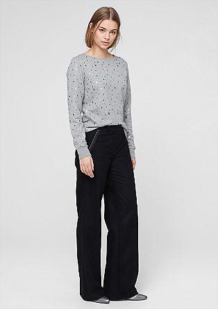 Sweatshirt met sterrenprint
