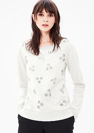 Sweatshirt met stippen van pailletjes