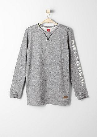 Sweatshirt mit bedrucktem Ärmel
