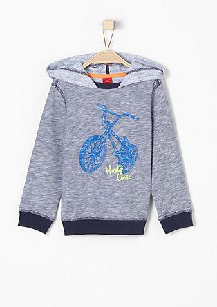 Sweatshirt mit Biker-Motiv
