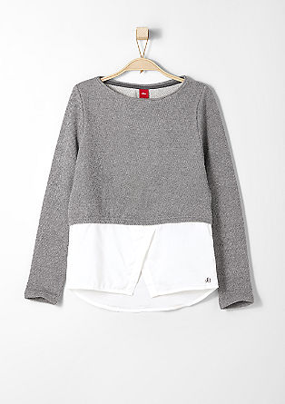 Sweatshirt mit Blusen-Saum