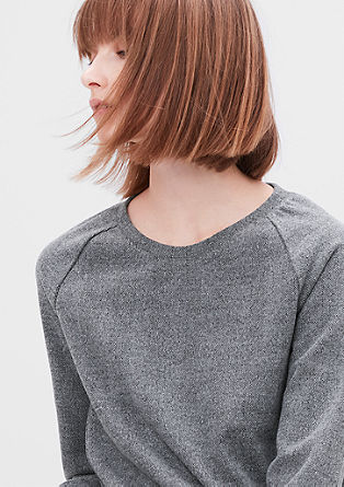 Sweatshirt mit Fischgrat-Struktur