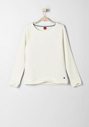 Sweatshirt mit gemusterter Front