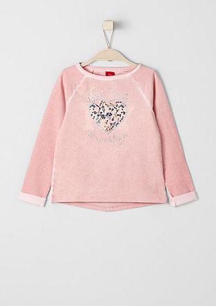 Sweatshirt mit Glitzer-Details