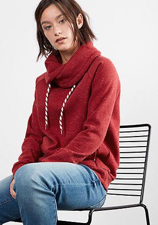 Sweatshirt mit großem Turtleneck