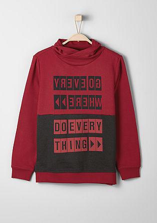 Sweatshirt mit gummiertem Print