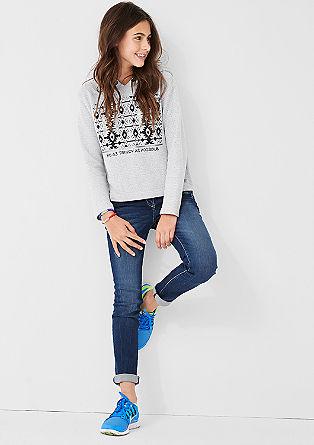 Sweatshirt mit Inka-Muster
