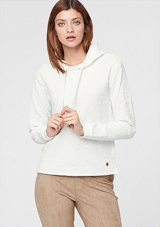 Sweatshirt mit Muster-Struktur