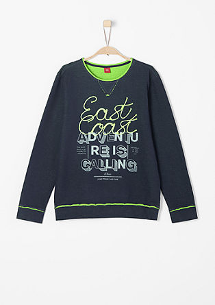 Sweatshirt mit Neon-Apllikation