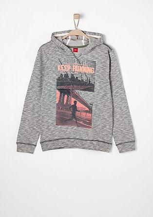 Sweatshirt mit Neon-Print