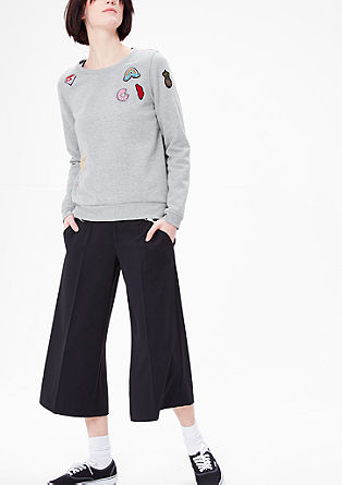 Sweatshirt mit Patch-Applikationen