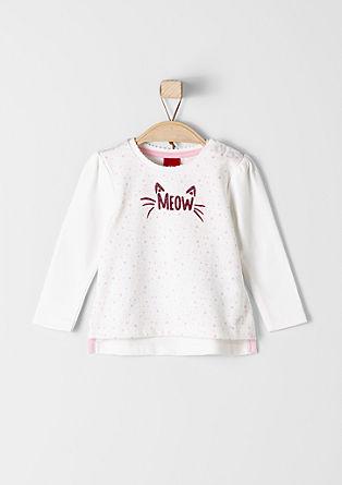 Sweatshirt mit Pünktchen-Design