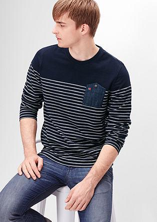 Sweatshirt mit Ringeln