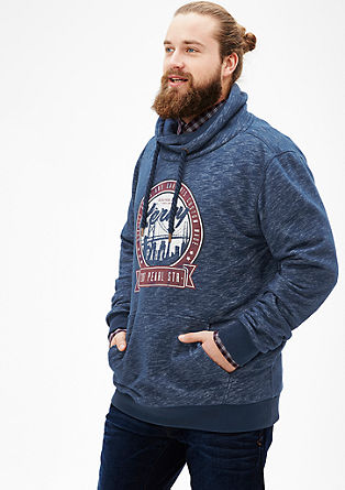 Sweatshirt mit Schalkragen