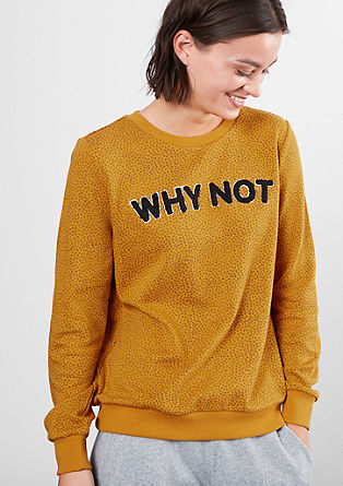 Sweatshirt mit Schrift-Applikation