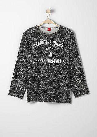 Sweatshirt mit Schrift-Print