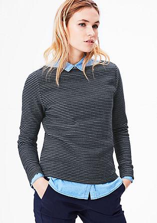 Sweatshirt mit Streifenstruktur