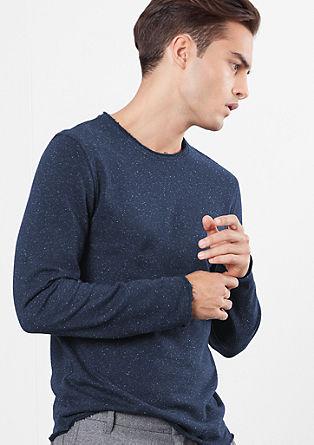 Sweatshirt mit Used-Details