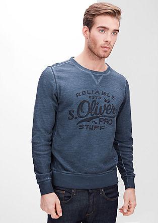 Sweatshirt pulover, barvan s hladnim postopkom pigmentiranja