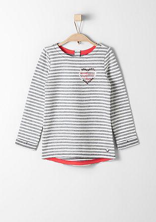 Sweatshirt pulover črtastega videza