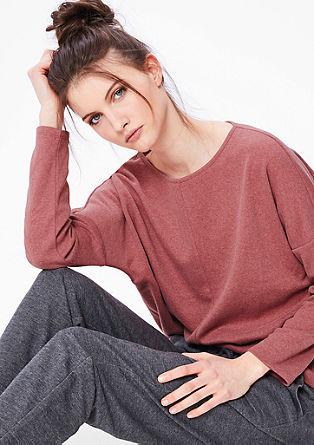 Sweatshirt pulover iz mehke bombažne mešanice