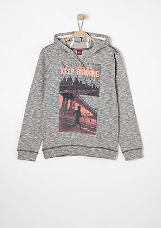 Sweatshirt pulover neonskim tiskom