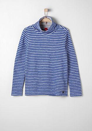 Sweatshirt pulover s črtasto strukturo