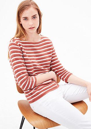 Sweatshirt pulover s črtasto teksturo
