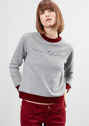 Sweatshirt pulover s kontrasti
