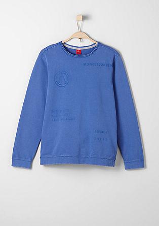 Sweatshirt pulover s potiskom od znotraj