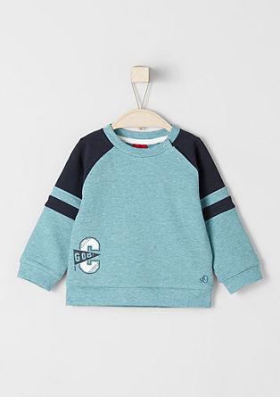 Sweatshirt pulover s športnimi črtami