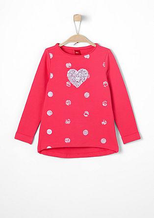 Sweatshirt pulover s srcem iz bleščic