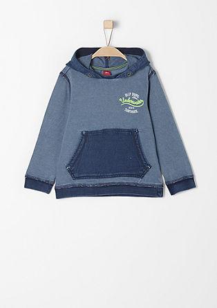 Sweatshirt pulover s tankimi črtami