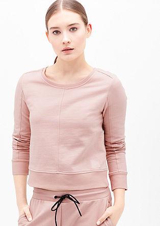 Sweatshirt pulover škatlastega kroja