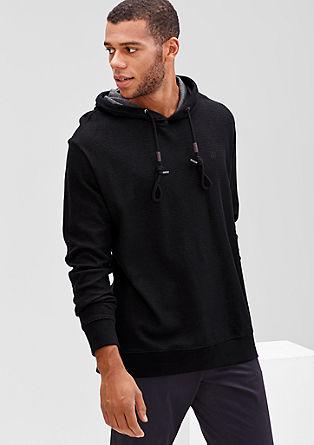 Sweatshirt pulover v barvanem videzu