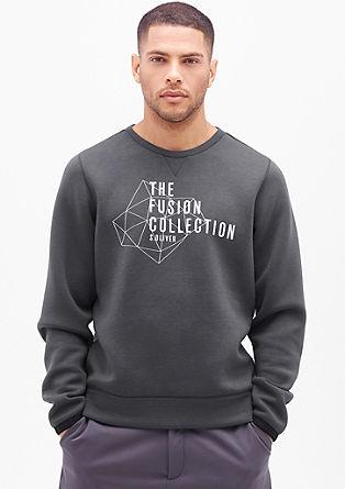 Sweatshirt pulover v videzu neoprena