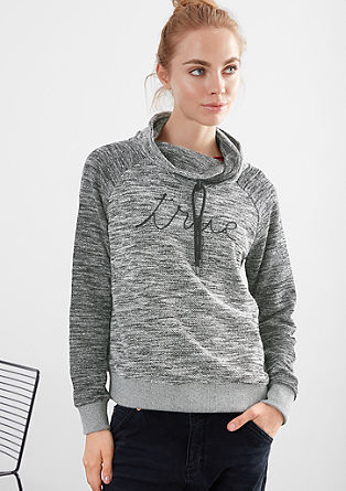 Sweatshirt pulover v videzu pletenine