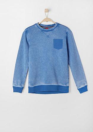 Sweatshirt pulover v vintage videzu