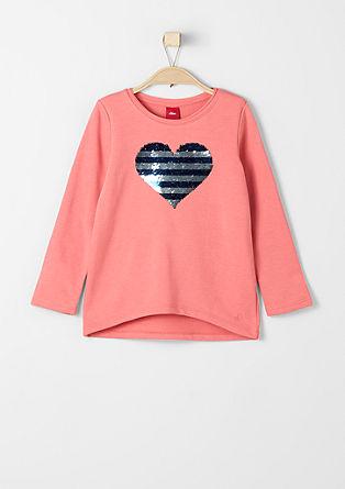 Sweatshirt pulover z aplikacijo z bleščicami
