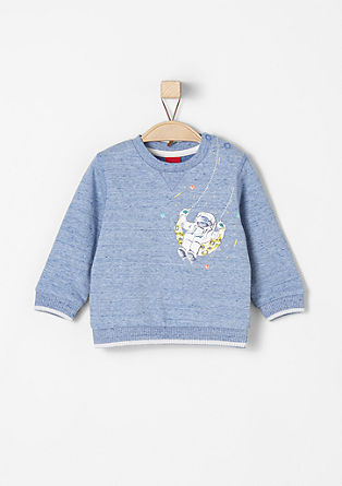 Sweatshirt pulover z astronavtom