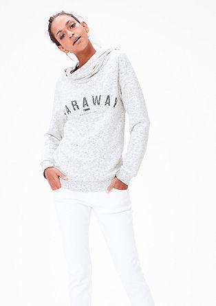 Sweatshirt pulover z dvoslojno kapuco