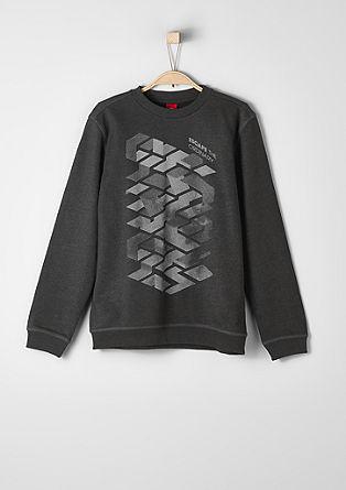 Sweatshirt pulover z grafičnim potiskom