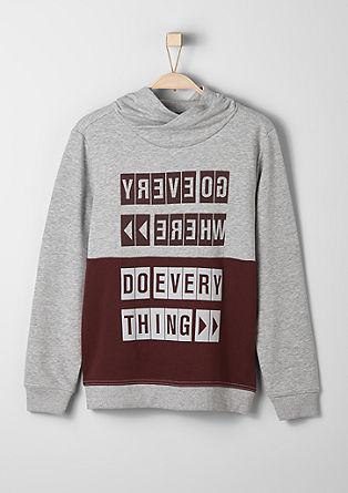 Sweatshirt pulover z gumiranim potiskom