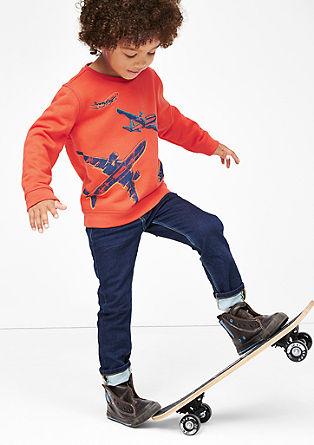 Sweatshirt pulover z letalskimi motivi