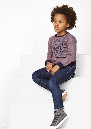 Sweatshirt pulover z napisom