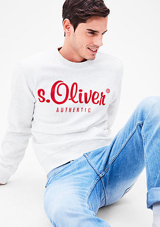 Sweatshirt pulover z natisnjenim logotipom